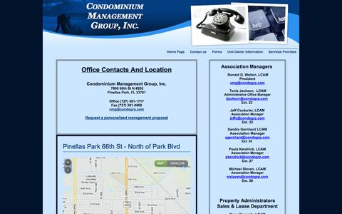 Screenshot of Contact Page Team Page condogrp.com - Contact us - captured Oct. 2, 2014