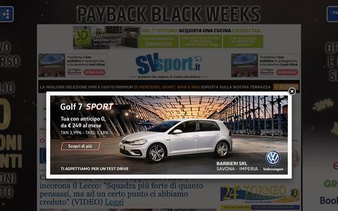 Screenshot of Home Page svsport.it - Svsport.it - Notizie sport Savona - News e video in tempo reale di calcio, pallanuoto, basket, volley - captured Nov. 28, 2018
