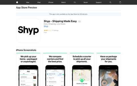Shyp - Shipping Made Easy on the App Store