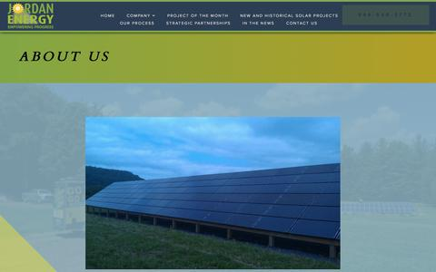 Screenshot of About Page jordanenergy.org - About Us - Jordan Energy Empowering Progress - captured Oct. 16, 2017
