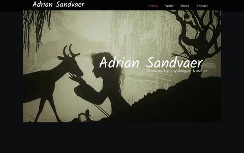 Screenshot of Home Page adrian-sandvaer.no - Home - captured Feb. 18, 2018