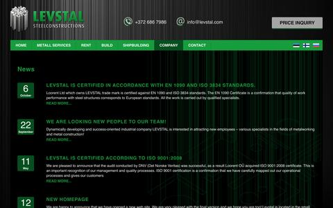 Screenshot of Press Page levstal.com - News Archives - LEVSTAL - captured Dec. 9, 2015