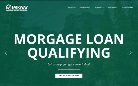 Screenshot of Home Page getyourmortgagenow.com - Fairway Independent Mortgage - Fairway - captured July 14, 2018