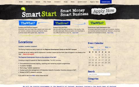 Screenshot of Locations Page smartstart.ie - Locations «  Smart Start - captured Oct. 26, 2014