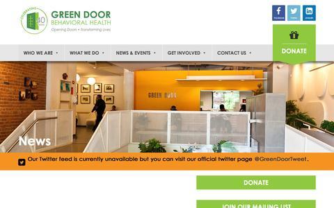 Screenshot of Press Page greendoor.org - News - Green Door - captured July 19, 2016