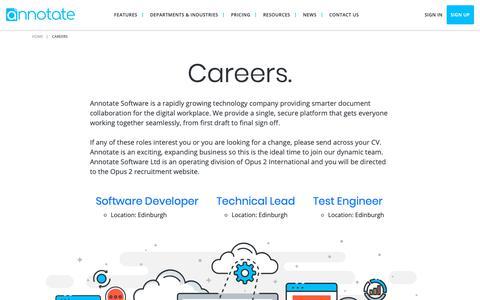 Screenshot of Jobs Page annotate.com - Annotate - Careers - captured Nov. 12, 2018