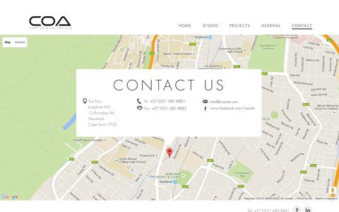 Screenshot of Contact Page coasite.com - Contact   Craft Of Architecture - captured Jan. 23, 2016