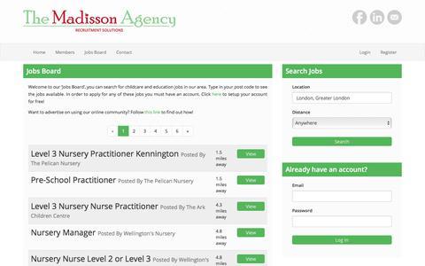 Screenshot of Jobs Page themadissonagency.com - The Madisson Agency - captured Nov. 10, 2017