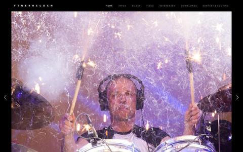 Screenshot of Home Page feuerhelden.de - Feuerhelden - captured Aug. 3, 2015
