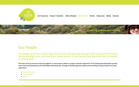 Screenshot of Team Page coopinsurancenz.co.nz - Our People - Co-op Insurance NZ - captured Feb. 17, 2018