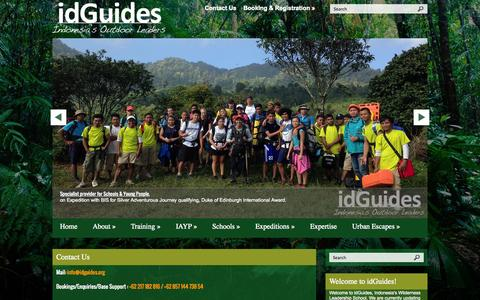Screenshot of Contact Page idguides.net - Contact Us | idGuides - captured Oct. 8, 2014