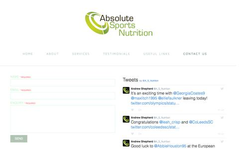 Screenshot of Contact Page absolutesportsnutrition.co.uk - Contact us | Absolute Sports Nutrition - captured July 24, 2016