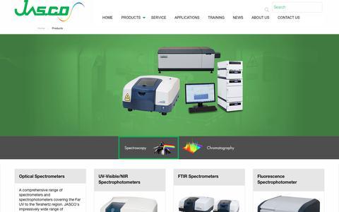 Screenshot of Products Page jasco.co.uk - Jasco UK Products - captured Oct. 3, 2017
