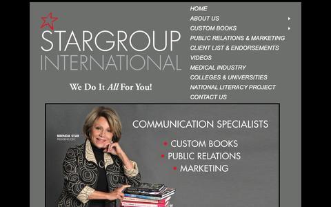 Screenshot of Home Page stargroupinternational.com - Welcome to StarGroup International - captured Dec. 15, 2016