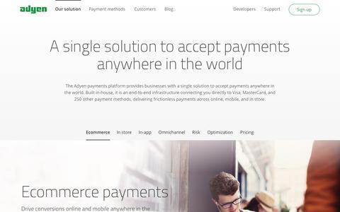 Global omnichannel payments solution - Adyen