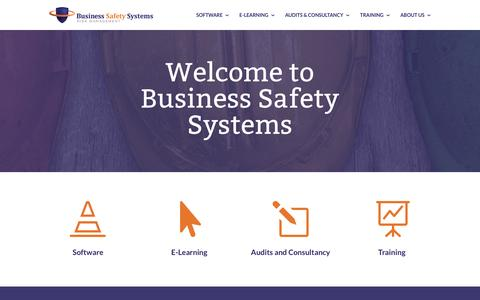Screenshot of Home Page business-safety.com - Health & Safety Training, Qualifications, Audits and Software | BSS - captured Nov. 23, 2016