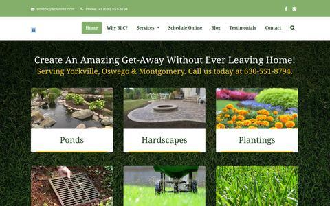 Screenshot of Home Page blcyardworks.com - Home page BLC - captured Jan. 21, 2015