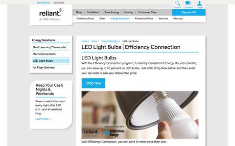 LED Light Bulbs | Reliant Energy
