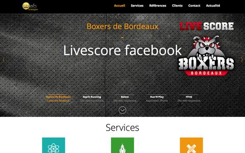 Screenshot of Home Page Services Page webstrategies.fr - WEB Stratégies I Agence conseil en communication Internet I Paris & Bordeaux - WEB Stratégies - captured Oct. 2, 2014