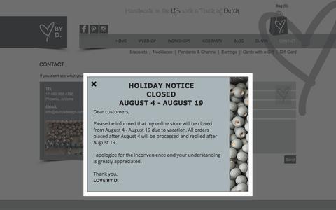 Screenshot of Contact Page dunyadesign.com - Dunya Design | Contact - captured Aug. 9, 2018