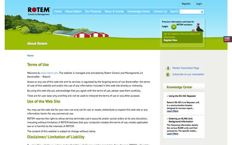 Screenshot of Terms Page rotem.com - Terms of Use - Rotem - captured Oct. 26, 2014