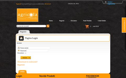 Screenshot of Login Page cooperativaagricola.it - Pagina Login - captured Oct. 30, 2014