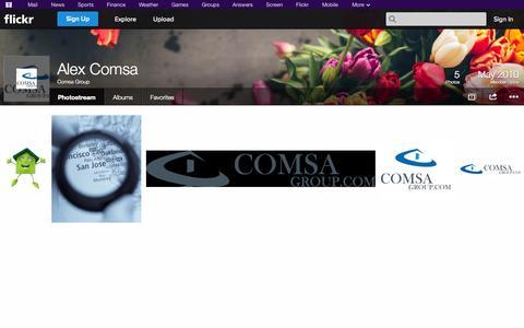 Screenshot of Flickr Page flickr.com - Flickr: Comsa Group's Photostream - captured Oct. 22, 2014