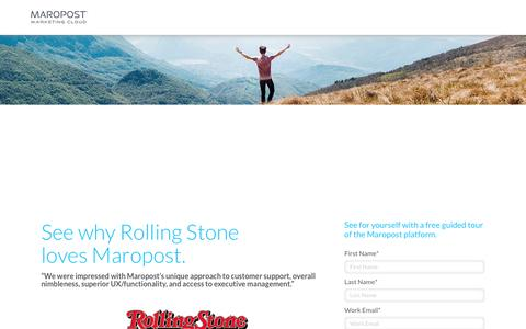 Maropost Marketing | Cloud Request a Demo | Rolling Stone