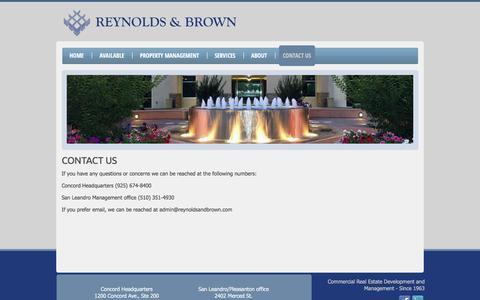 Screenshot of Contact Page reynoldsandbrown.com - Contact Us | Reynolds & Brown - captured Feb. 15, 2016