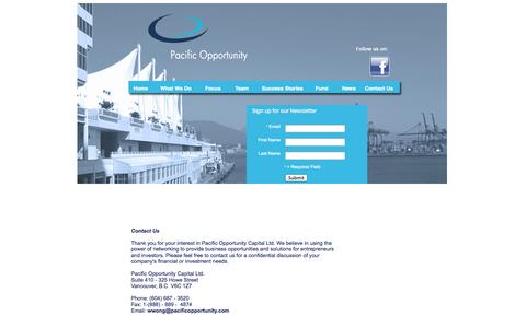 Screenshot of Contact Page pacificopportunity.com - Contact Us - captured Oct. 1, 2014