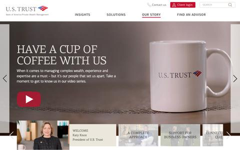 Screenshot of About Page ustrust.com - About Us | U.S. Trust - captured Oct. 1, 2018