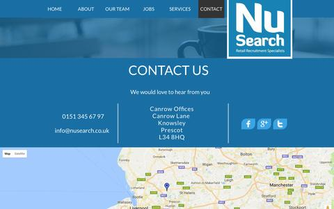 Screenshot of Contact Page nusearch.co.uk - Contact us - captured Aug. 14, 2016