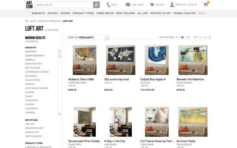 Loft Art, Posters and Prints at Art.com