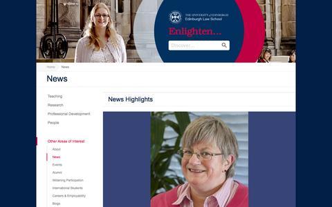 Screenshot of Press Page ed.ac.uk - News   |    Edinburgh Law School - captured Sept. 22, 2014