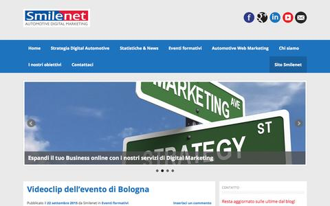 Screenshot of Blog smilenet.it - Blog Smilenet | Smilenet Automotive Digital Marketing - captured Sept. 24, 2015