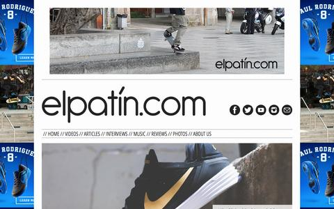 Screenshot of Home Page elpatin.com - elpatin.com | - captured Sept. 18, 2014