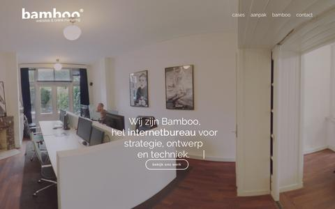 Screenshot of Home Page bamboo-reclame.nl - BAMBOO | Internetbureau Tilburg - captured March 5, 2016