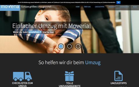 Screenshot of Home Page moveria.de - Moveria.de   Umzug leicht gemacht - captured Sept. 4, 2015