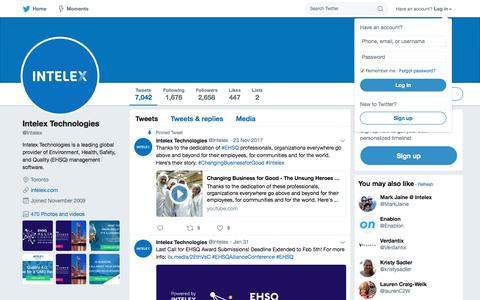Intelex Technologies (@Intelex) | Twitter