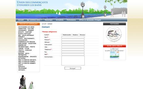 Screenshot of Contact Page commerces-enghienlesbains.fr - Union des commerçants d'enghien les bains - captured Oct. 25, 2018