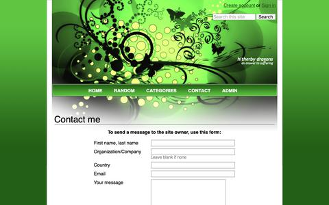 Screenshot of Contact Page wikidot.com - Contact me - Hitherby Dragons - captured Nov. 1, 2018