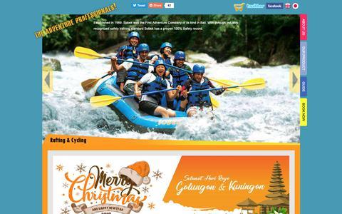 Screenshot of Home Page balisobek.com - Bali SOBEK - Bali Adventure Tours Specialist, Outdoor Activities Operator Bali - captured Dec. 21, 2018