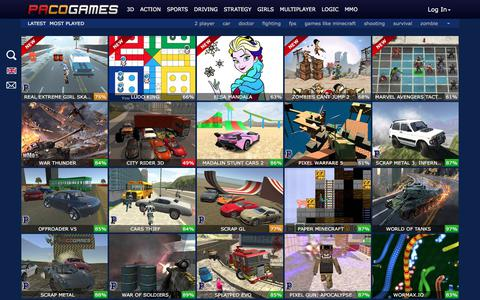 Screenshot of Home Page pacogames.com - PacoGames.com - Play only the best free online games - captured Nov. 17, 2017