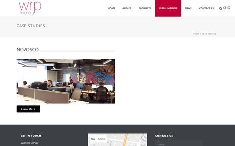 Screenshot of Case Studies Page workrestplay.net - Case Studies - Work Rest Play - captured Dec. 12, 2016