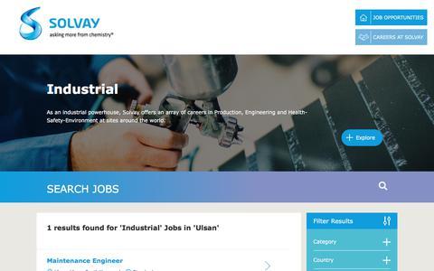 Screenshot of Jobs Page solvay.com - Industrial Jobs in Ulsan at Solvay   Careers at Solvay - captured Dec. 29, 2017