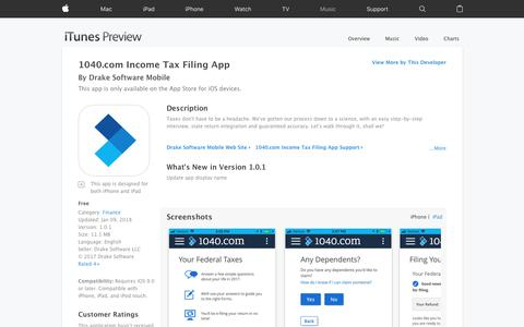 1040.com Income Tax Filing App on the App Store