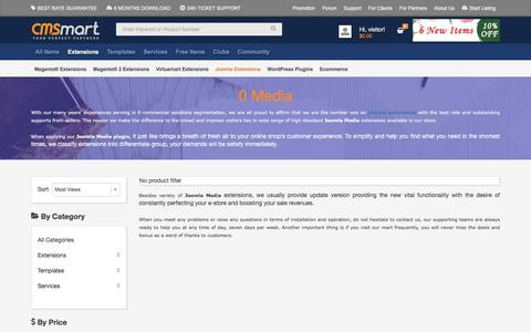 Screenshot of Press Page cmsmart.net - 0+ Media - captured Nov. 18, 2016