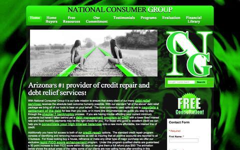 Screenshot of Home Page my-ncg.com - NCG Home | Arizona Credit Repair | Arizona Debt Relief - captured Oct. 7, 2014