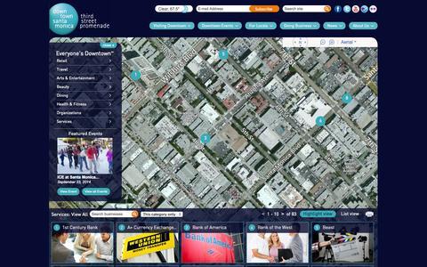 Screenshot of Services Page downtownsm.com - Downtown Santa Monica - captured Sept. 25, 2014