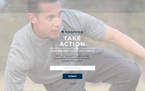Screenshot of Contact Page propper.com - Contact Us - captured Sept. 29, 2018